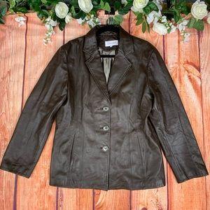 Calvin Klein Genuine Leather ButtonUp Jacket 1448H